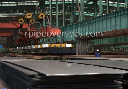 Original Photograph Of Abrasion Resistant Hardox 400 Steel Plates At Our Warehouse Mumbai, India