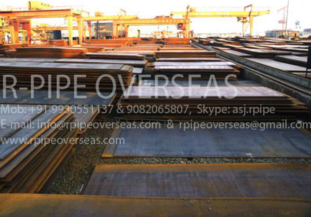 Original Photograph Of High Manganese Steel Plate At Our Warehouse Mumbai, India