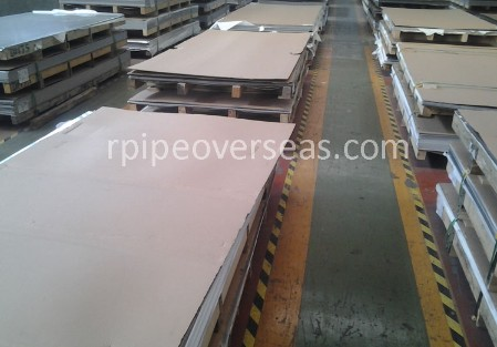 Original Photograph Of Stainless Steel 409 Plate At Our Warehouse Mumbai, India