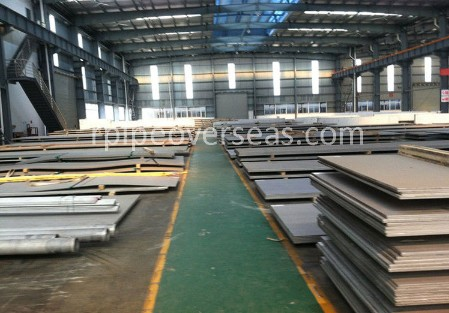 Original Photograph Of Super Duplex Steel UNS S32750 Plate At Our Warehouse Mumbai, India