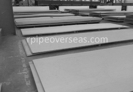Original Photograph Of Super Duplex Steel UNS S32760 Plate At Our Warehouse Mumbai, India