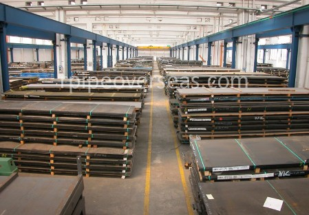 Original Photograph Of Wear Resistant Steel Hardox 450 Plates At Our Warehouse Mumbai, India