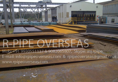 Original Photograph Of X120MN12 Manganese Steel Plates At Our Warehouse Mumbai, India